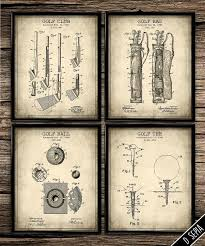office art ideas. vintage patent golf set antique poster by printshopcanada office art ideas