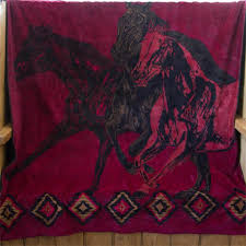 Horse Design Throw Blanket Wild Horses Microplush Throw Blanket