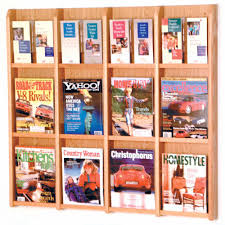 Magazine Holder Uses Magazine and Brochure Rack 100 Pocket in Wall Magazine Racks 72