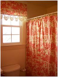 matching shower and window curtains 36101 retrospect red toile within size 1200 x 1600