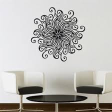 flower pattern mandala wall stickers home decor vinyl art wall decals removable bedroom wall murals on mandala wall art nz with removable wall art black flowers nz buy new removable wall art