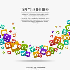 mobile app icons isolated on a white background royalty free