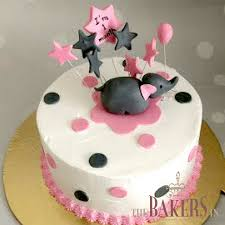 The Bakersin 1st Month Birthday Cake For A Baby Girl Facebook