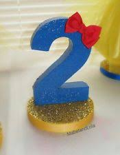 Snow White Theme Birthday Party Centerpiece Table Number Decoration ANY AGE