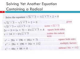 6 solving yet another equation containing a radical 6