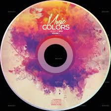 Cd Design Music Music Colors Cd Design Template