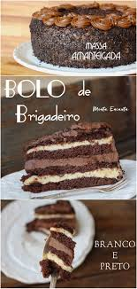 Bolo de Brigadeiro Gourmet, massa amanteigada
