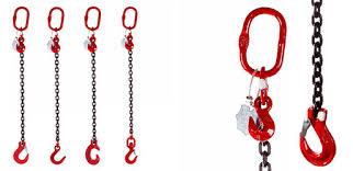 lifting chain slings single leg grade 80 and grade 100