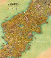 glenumbra map  the elder scrolls online  gamemapscom