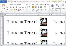 How To Create Halloween Trick Or Treat Labels In Word