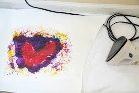 ironing crayon shavings for melted crayon stained glass art