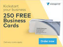 vistaprint 250 free business cards