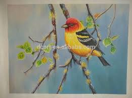 oil painting of beautiful birds for home decoration jpg