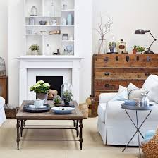 traditional living room ideas with fireplace. White Living Room With Mid Century Furniture And Fireplace Shelving Traditional Ideas D