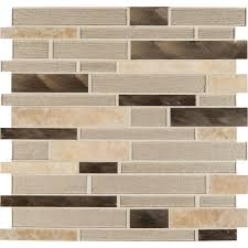 MSI Champagne Toast Interlocking 12 in. x 12 in. x 4 mm Glass/Metal/Stone  Mesh-Mounted Mosaic Tile-SGLSMTIL-CHATST - The Home Depot