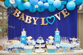 Blue And Gold Baby Shower Decorations Royal Baby Shower Lovelyfest Event Design