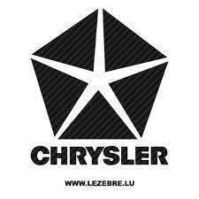 Sticker Karbon Chrysler Logo 5