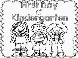 First Day School Kindergarten Coloring Pages Get Coloring Pages