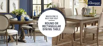 round or rectangular dining table