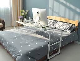 Over bed desk Stylish Best Overbed Table For Hospital And Home Office Use Desk Advisor 15 Best Overbed Table For Hospitals And Home Use In 2019 buyers Guide