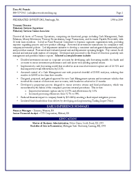 Cfo Resume Finance Certified Engineering Page Executive Service