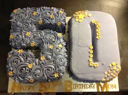 Number 50 Birthday Cake Purple And Gold Buttercream Rose Swirls