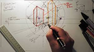 architecture design drawing techniques. Two-point Perspective Can Be Used To Draw The Same Objects As One-point Perspective, Rotated: Looking At Corner Of A House, Or Two Forked Architecture Design Drawing Techniques