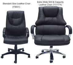 office leather chair. Extra Wide 500 Lbs. Capacity Leather Desk Chair W/ 28 Office Leather Chair