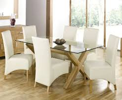 Glass Dining Table With Chairs Amazing Glass Dining Tables Sets Dadulduckdns With Glass Dining
