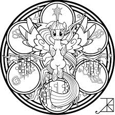 Rainbow Friendship Twilight Sparkle Lineart By