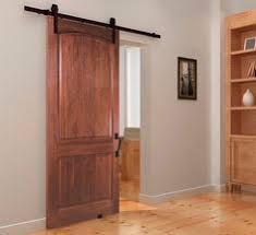 the 2 panel solid door rolling barn door pliments any home