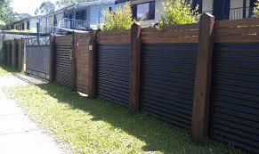 corrugated metal privacy fence. Brilliant Metal Corrugated Fence Metal Privacy With