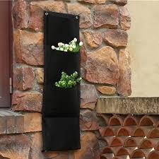 WHISM 4 Pockets Felt Flower Pots Vertical Garden Planter Balcony ...