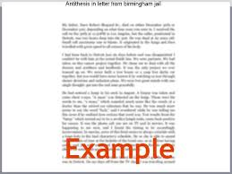 Antithesis In Letter From Birmingham Jail Homework Service