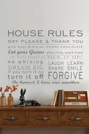 Small Picture House Rules Wall Sticker from Next Decor ideas Pinterest
