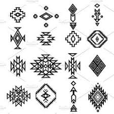 Navajo designs Dine Hand Drawn Tribal Collection By Illustration With Love On creativemarket Weaving In Beauty Aztec Native Navajo Design Elements Vector Set Rons Pins