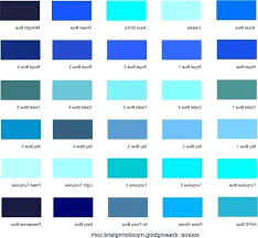 Shades Of Color Blue Chart Color Shades Of Blue Madcreative Co