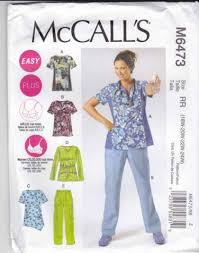 Scrub Patterns Cool McCalls Sewing Pattern 48 Easy Women's Plus Size 48W48W Scrub