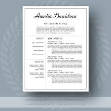 Resume And Cover Letter Resume Templates Creative Market