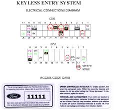 ford keyless entry key pad installation article 1 click here for the electrical diagram 35 6 kb