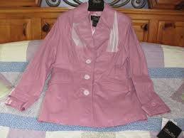 gift o ship terry lewis m pink mauve rose smooth leather jacket
