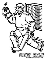 Small Picture NHL Goalie Coloring Pages Hockey Goalie Coloring Pages Book For