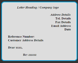 Formal Letter Heading Format Sample Business Letter And Format