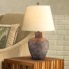 southwestern lamps ceramic table lamps southwest pottery decor bedroom style metal small brown leaf