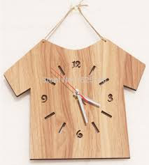 Small Picture wooden clock 2015 new simple type wooden wall clock modern