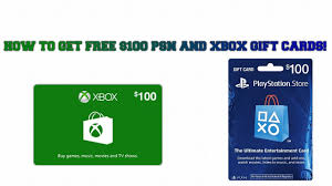 2017 how to get free xbox and psn 100 gift cards