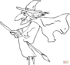 Free Coloring Page Of Witches Coloring Home