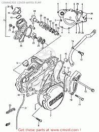 Suzuki rm125 1987 h e01 e02 e04 e24 crankcase cover water