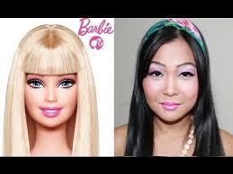 asian barbie makeup transformation