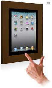 ipad 2 3 4 on wall mount frame